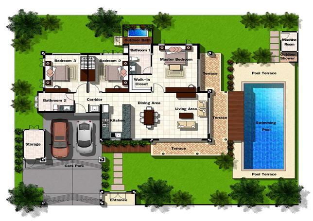 Violetta-Villa Breeze Hill Hua Hin well priced Balinese style pool villas
