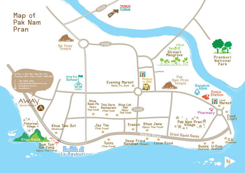 AW_Map-Pranburi_resize Collection of maps of Pranburi, Pak Nam Pran, Khao Kalok, Dolphin Bay