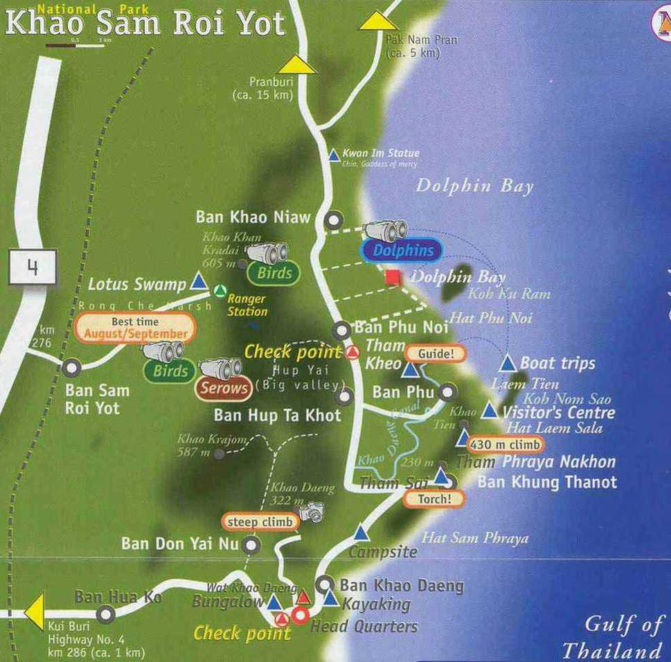 Samroiyot_map Collection of maps of Pranburi, Pak Nam Pran, Khao Kalok, Dolphin Bay